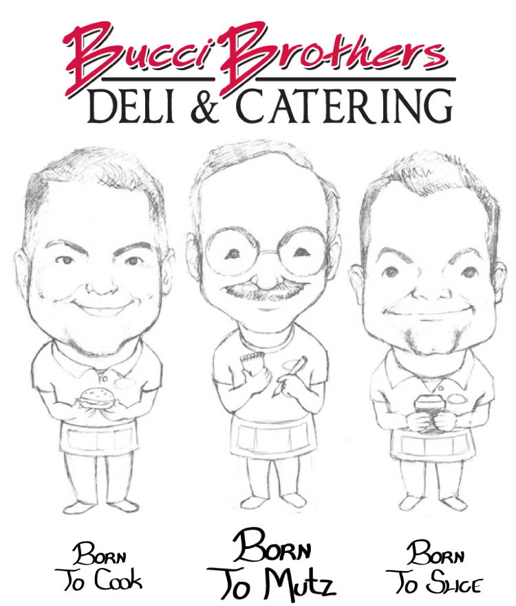 Bucci Brothers Deli in Mahopac Cartoon, courtesy of TC Graphics